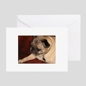 Pug Greeting Card Greeting Card