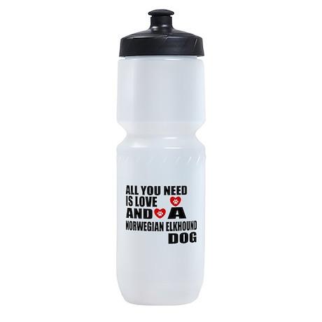 All You Need Is Love Norwegian Elkho Sports Bottle