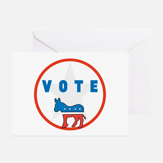Vote Blue Greeting Cards