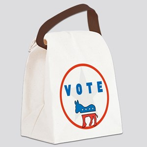 Vote Blue Canvas Lunch Bag