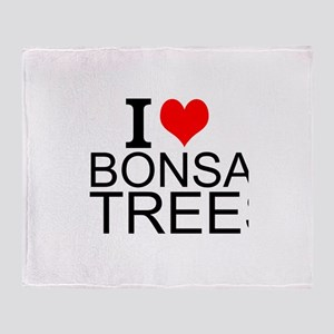 I Love Bonsai Trees Throw Blanket
