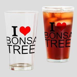 I Love Bonsai Trees Drinking Glass