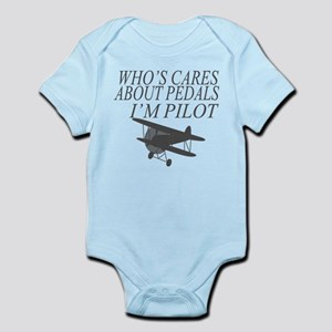 WHO'S CARES ABOUT PEDALS IM PILOT Body Suit
