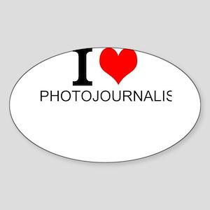 I Love Photojournalism Sticker
