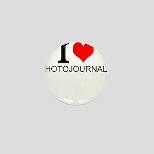 I Love Photojournalism Mini Button