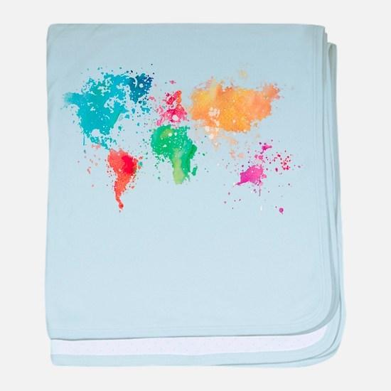 Rainbow World baby blanket