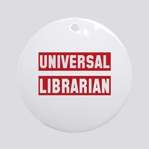 Universal Librarian Round Ornament