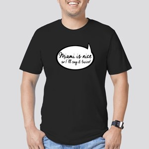 Quote Bubble Miami is Men's Fitted T-Shirt (dark)