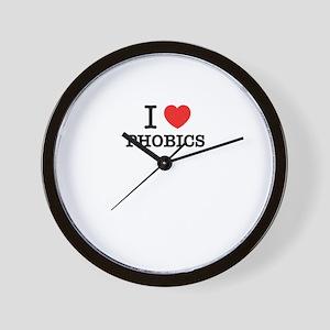 I Love PHOBICS Wall Clock