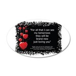 Nikki Hornsby Song Lyric 35x21 Oval Wall Decal