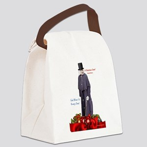 A Christmas Carol Scrooge Canvas Lunch Bag