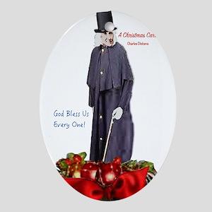 A Christmas Carol Scrooge Oval Ornament