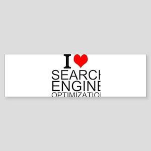 I Love Search Engine Optimization Bumper Sticker