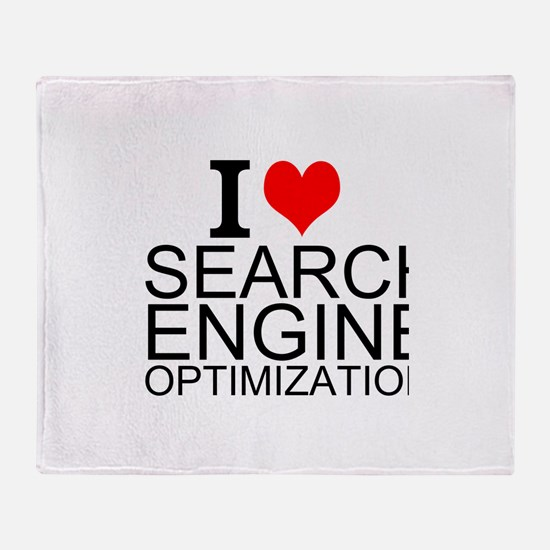 I Love Search Engine Optimization Throw Blanket