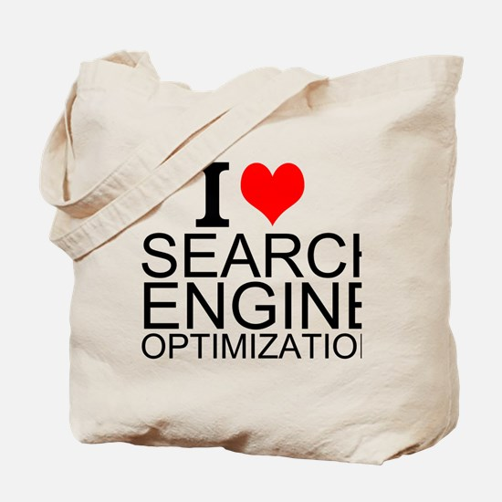 I Love Search Engine Optimization Tote Bag