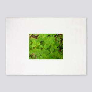 clover shamrock upclose, Thousand O 5'x7'Area Rug