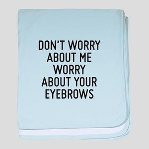 Eyebrows baby blanket