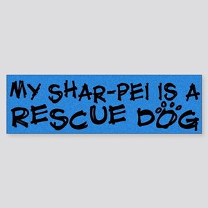 Rescue Dog Shar-Pei Bumper Sticker