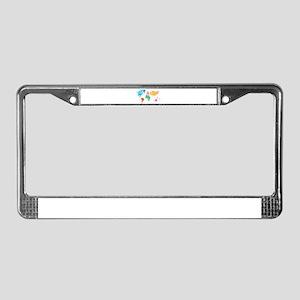 Rainbow World License Plate Frame