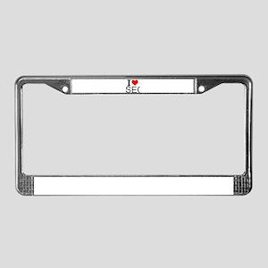 I Love SEO License Plate Frame