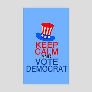 Vote Democrat Sticker (Rectangle)