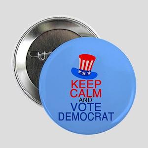 """Vote Democrat 2.25"""" Button"""