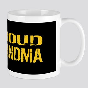 U.S. Army: Proud Grandma (Black & Gold) Mug
