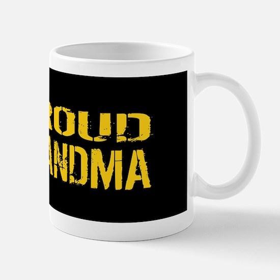 U.S. Army: Proud Grandma (Black & Gold) Mug