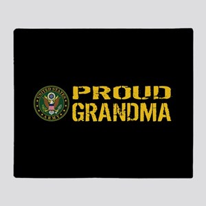 U.S. Army: Proud Grandma (Black & Go Throw Blanket