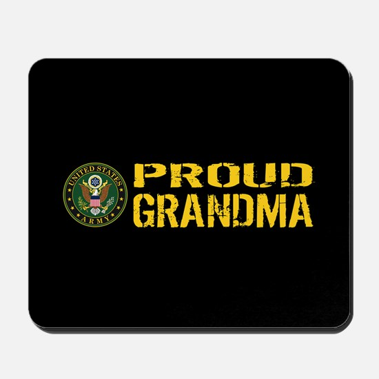 U.S. Army: Proud Grandma (Black & Gold) Mousepad