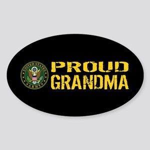 U.S. Army: Proud Grandma (Black & G Sticker (Oval)