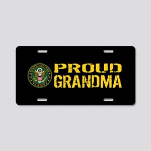 U.S. Army: Proud Grandma (B Aluminum License Plate
