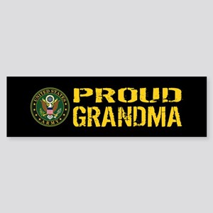 U.S. Army: Proud Grandma (Black & Sticker (Bumper)