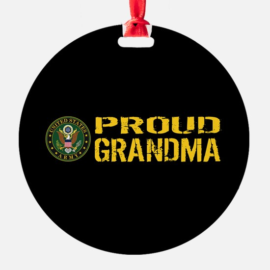 U.S. Army: Proud Grandma (Black & G Ornament
