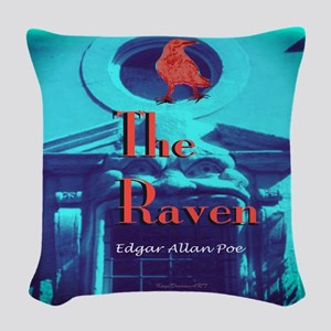 The Raven Woven Throw Pillow