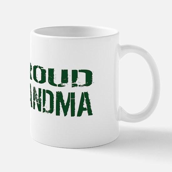 U.S. Army: Proud Grandma (Green & White Mug
