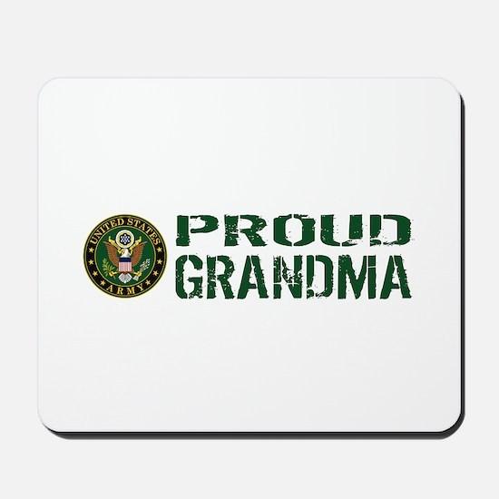 U.S. Army: Proud Grandma (Green & White) Mousepad