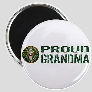 U.S. Army: Proud Grandma (Green & White) Magnet