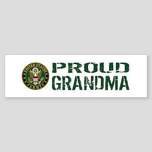 U.S. Army: Proud Grandma (Green & Sticker (Bumper)