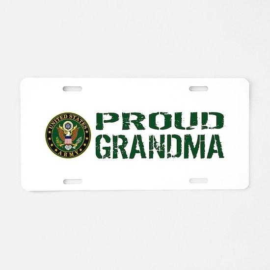 U.S. Army: Proud Grandma (G Aluminum License Plate