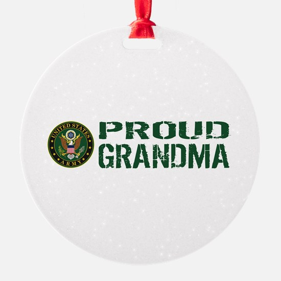 U.S. Army: Proud Grandma (Green & W Ornament
