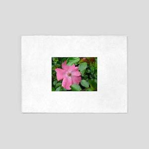 tea rose pink 5'x7'Area Rug