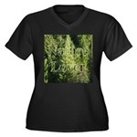 Nature Lover Women's Plus Size V-Neck Dark T-Shirt