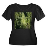 Nature Lover Women's Plus Size Scoop Neck Dark T-S