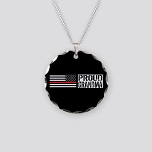 Firefighter: Proud Grandma ( Necklace Circle Charm