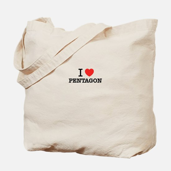 I Love PENTAGON Tote Bag