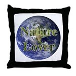 Nature Lover Earth Throw Pillow