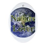 Nature Lover Earth Oval Ornament