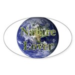 Nature Lover Earth Oval Sticker