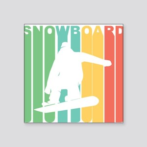 Retro Snowboard Sticker